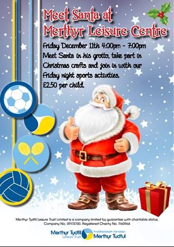 Merthyr tydfil family information service family information meet santa at merthyr leisure centre m4hsunfo