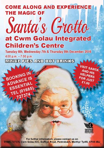 come along and experience the magic of santas grotto